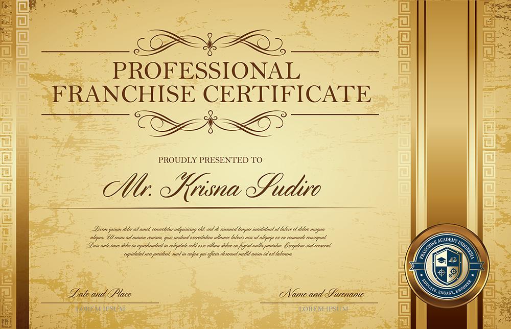 Sertifikat Profesional Franchise